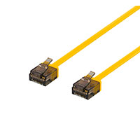 Flad Netværkskabel UTP Cat6a - Gul
