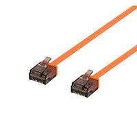 Flad Netværkskabel UTP Cat6a - Orange