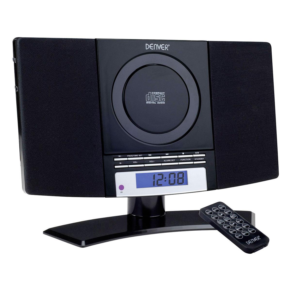Fin Stereoanlæg m/CD+FM (Fod) Sort - Køb Denver MC-5020 musikanlæg BJ-99