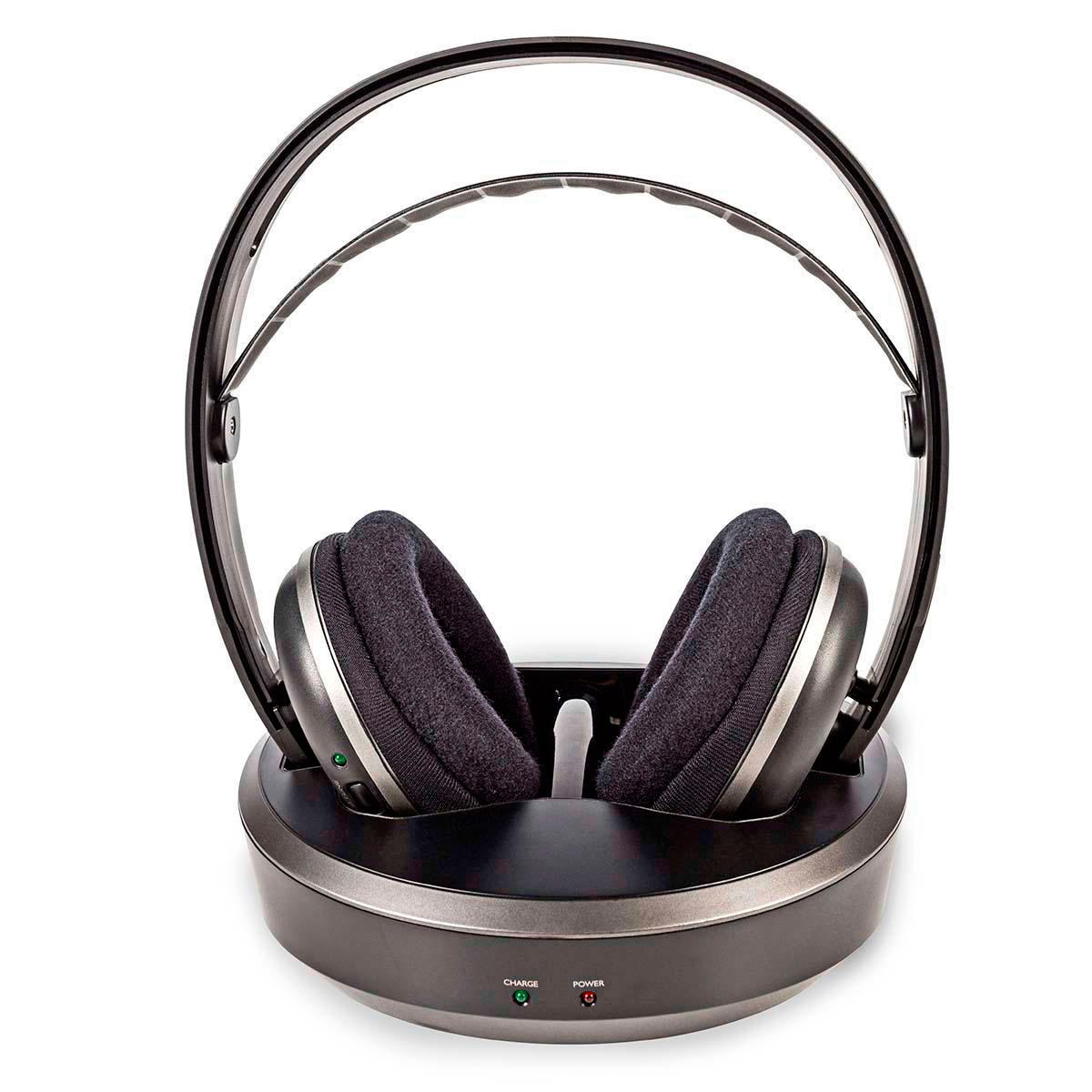 Trådløse høretelefoner RF (m/ladestation) Sort - Køb Nedis her