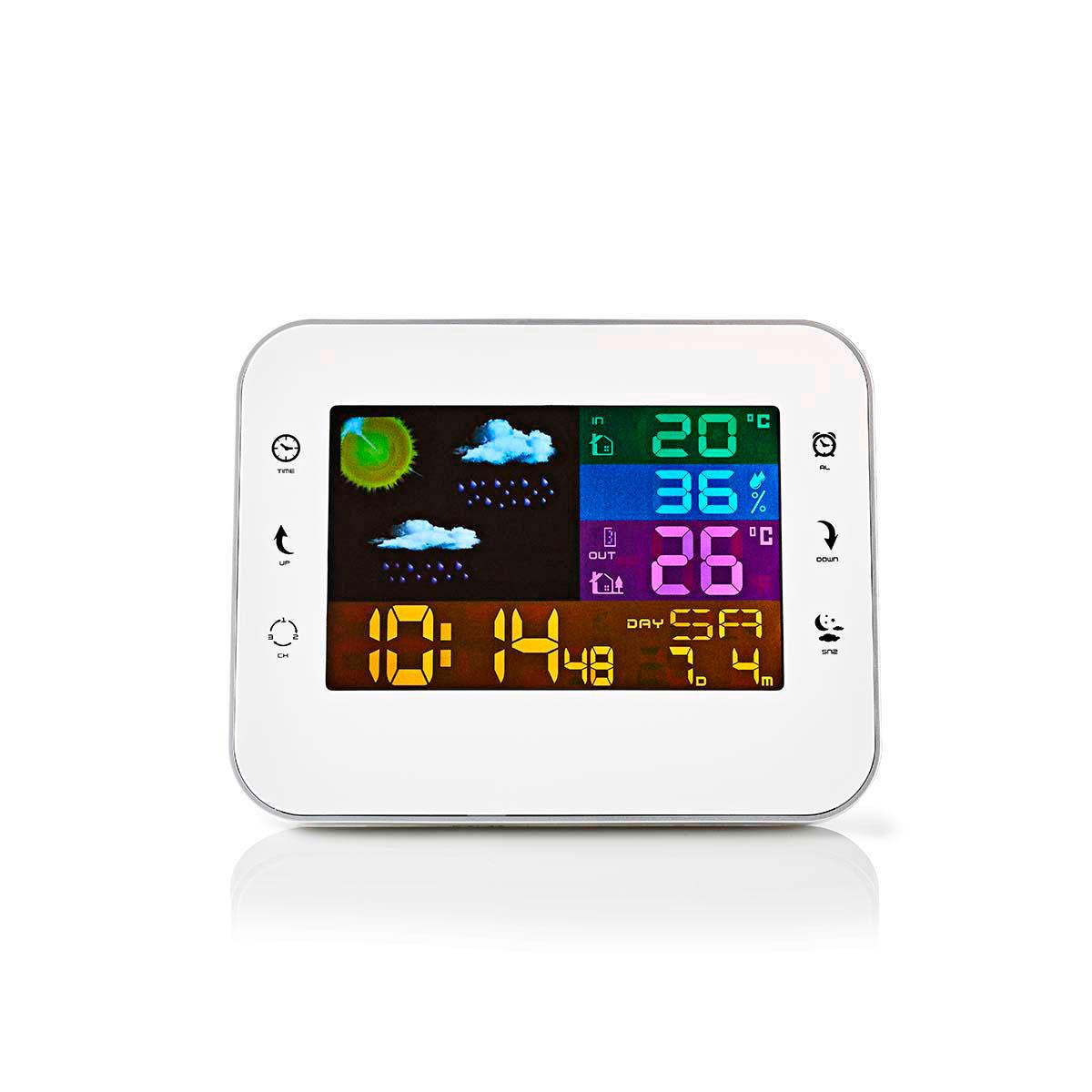 Vejrstation m vækkeur (sensor) Hvid - Køb Nedis hos avXperten.dk dad49568e1f0a